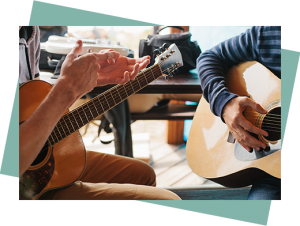 private guitar lesson with teenager and music teacher in Toronto