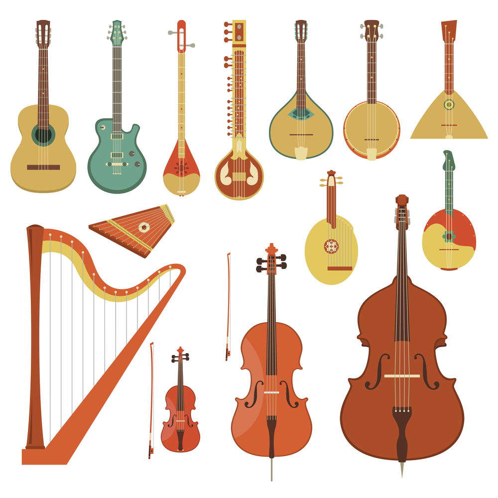 Your stringed instrument should be restrung periodically for optimum performance